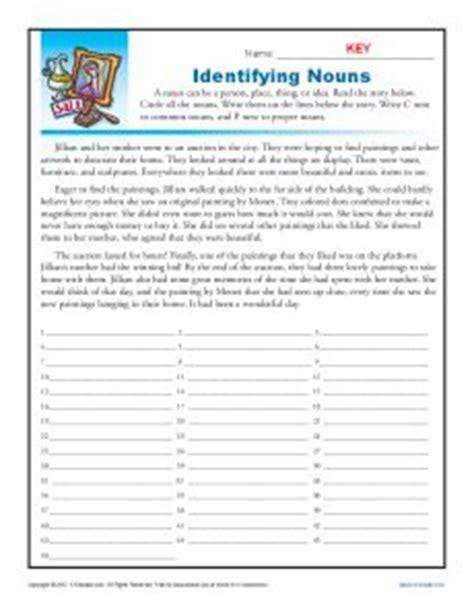 identifying nouns st grade noun worksheet