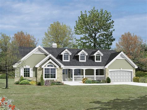 Foxridge Country Ranch Home Plan 007d0136  House Plans