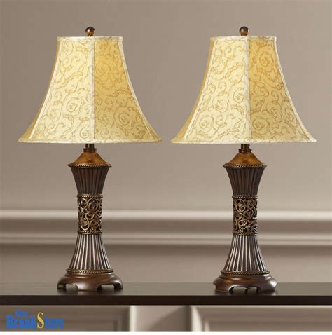 table lamps for bedrooms table lamp set 2 vintage traditional lamps pair shade 17454 | s l1000