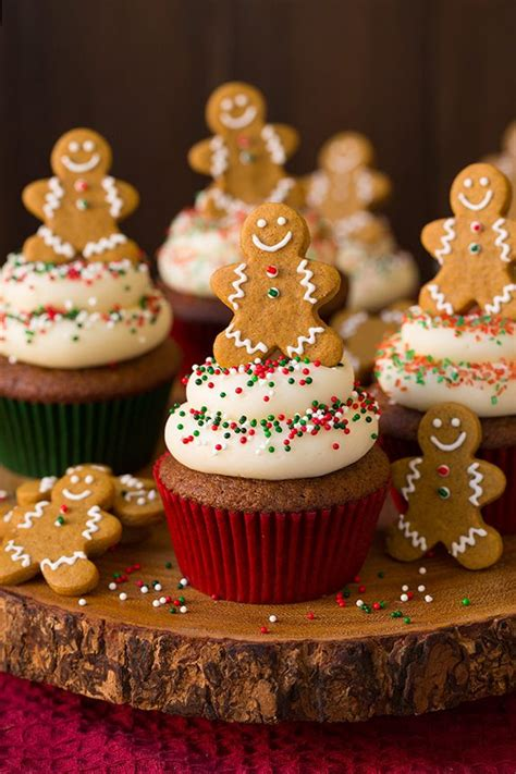 gingerbread cupcakes  cream cheese frosting cooking