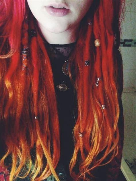 Fire Ombre Dreadlocks Colored Dreads Hair Dreads