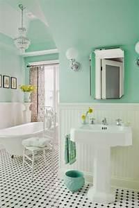 peinture salle de bain 80 photos qui vont vous faire craquer With peinture pour baignoire et lavabo