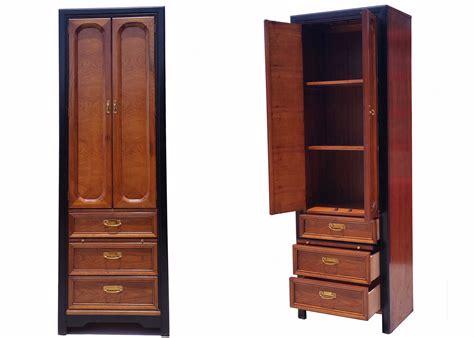 Narrow Wardrobe Cabinet by 2 Thomasville Oak Narrow Armoire Nightstand W