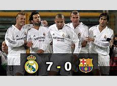 Real Madrid 7 0 Barcelona El Clásico Había una vez