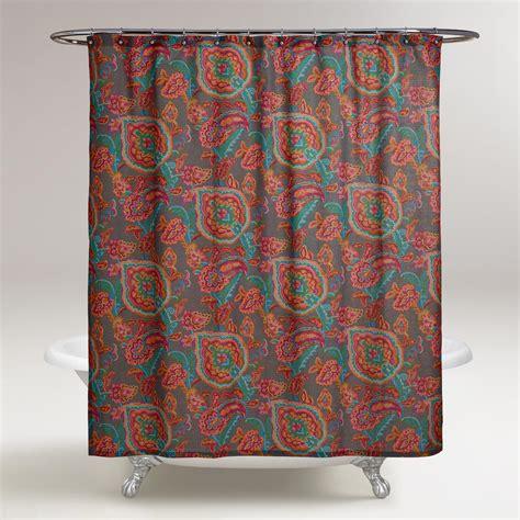 shower curtains world market paisley confetti shower curtain world market