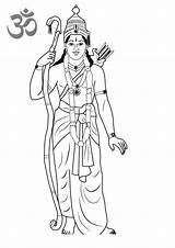 Coloring Rama Pages Lord Printable Hinduism Adults sketch template