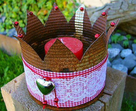 krone basteln erwachsene almrausch krone rostige deko f 252 r garten und im haus www fb manusfaktur deko kronen diy