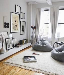 deco salon deco salon gris fauteuils gris tapis blanc With deco salon mur blanc
