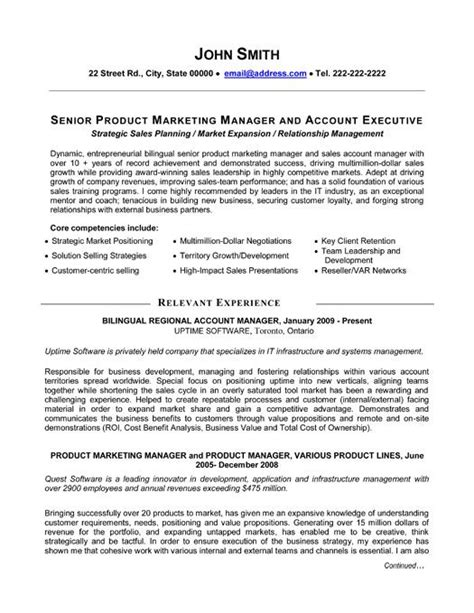 a professional resume template for a senior product