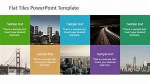 Make 3d Pie Chart Flat Tiles Powerpoint Template Slidemodel