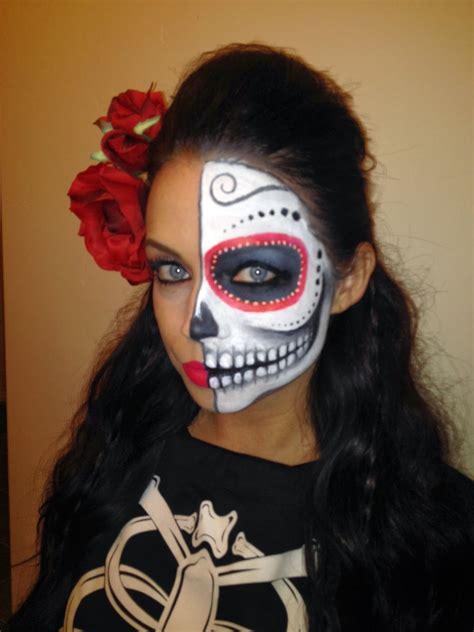 mason    de los muertos makeup halloween makeup sugar skull sugar skull