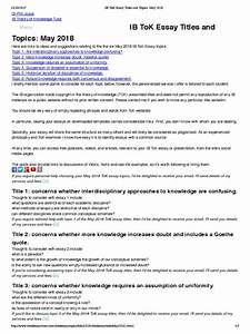 Compare And Contrast Essay High School And College Tok Sample Essay Format Persuasive Speech Essays Argument Essay Thesis Statement also Sample Essay High School Tok Sample Essay Poem Comparison Essay Tok Essay Topics  Google  Interesting Persuasive Essay Topics For High School Students