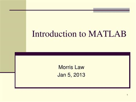 introduction  matlab powerpoint