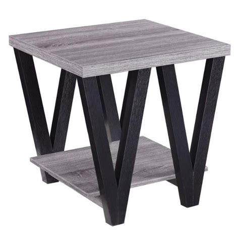 antique grey end table antique grey and black end table 4092