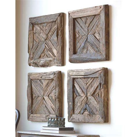 Rennick Rustic Wood Wall Art Uttermost Wall Sculpture Wall