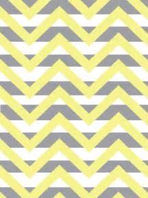 Yellow and Gray Chevron Pattern
