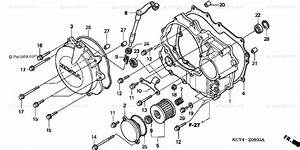 Honda Motorcycle 1999 Oem Parts Diagram For Right Crankcase Cover