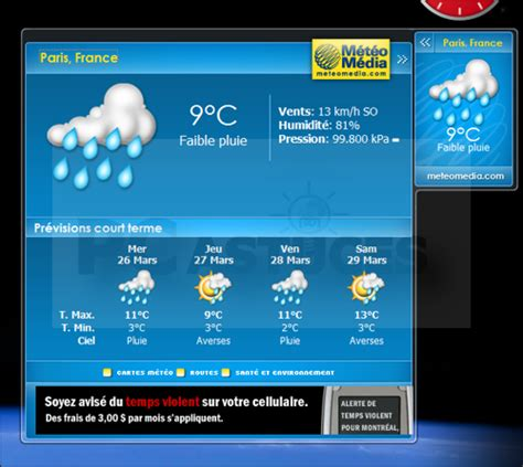 meteo sur le bureau windows 7 installer meteo sur bureau gratuit 28 images windows