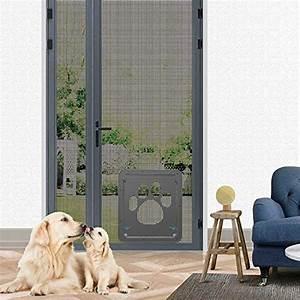 dog door screen door pet screen doorautomatic lock With dog door that locks automatically