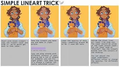 Lineart Digital Simple Drawing Tutorial Looji Trick