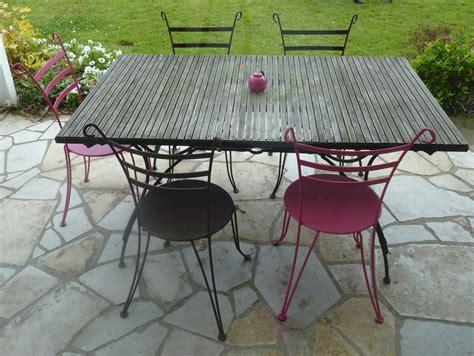 table chaises jardin table chaise jardin pas cher