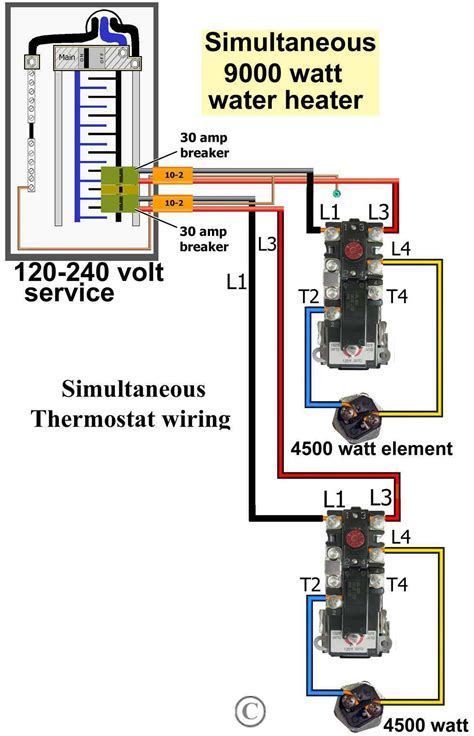 wire diagram for water heater dual element gallery how