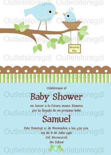 invitacion imprimible baby shower ni 241 o dise 241 o ave pajaritos 00 baby shower pajaritos