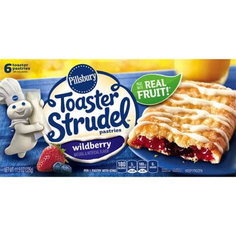 how much are toaster strudels toaster strudel wildberry from pillsbury nurtrition