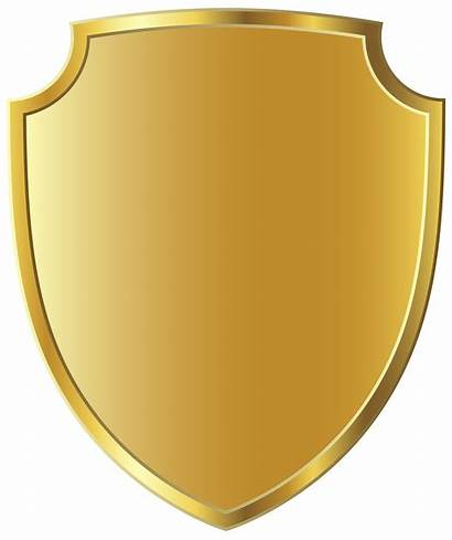 Badge Gold Template Clipart Shield Badges Clip