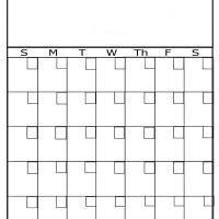 plain blank portrait calendar