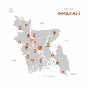 Bangladesh Administrative And Political Vector Map With