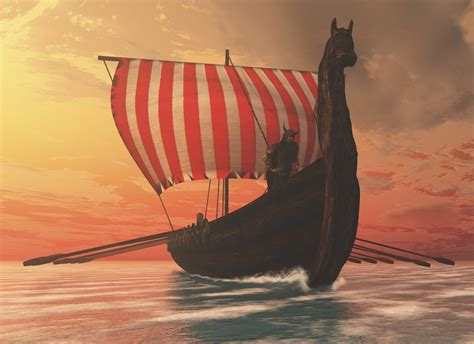 Viking Longboat Bed by A Viking Longboat Sails To New Shores Posters Prints By