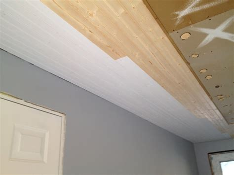 Painted White Tongue Groove Ceiling Clayton Design Remove