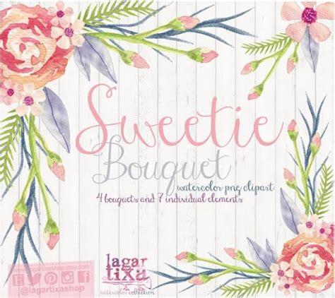 Watercolor Floral Clipart, PNG, Wedding Bouquet, Arrangement, Bouquet, Frames, Digital Paper