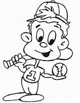 Baseball Coloring Pages Printable Sports Diamond Cartoon Letscolorit Know sketch template