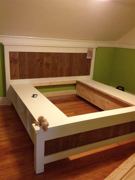 ana white king size farmhouse storage bed   ana