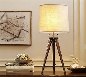 gibson tripod table lamp pottery barn With wooden floor lamp pottery barn