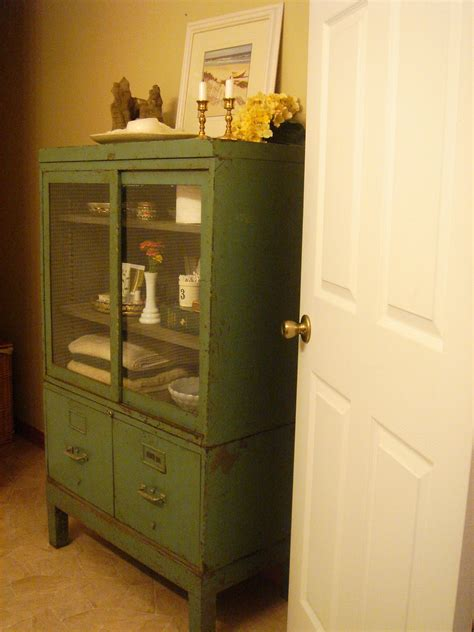 our neck of the woods vintage bathroom cabinet