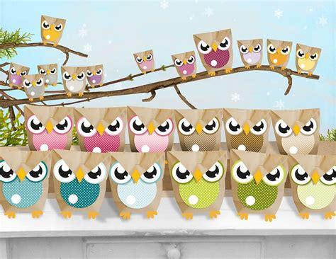 adventskalender mädchen selber basteln adventskalender eulent 252 ten owl advent calendar via dawanda basteln