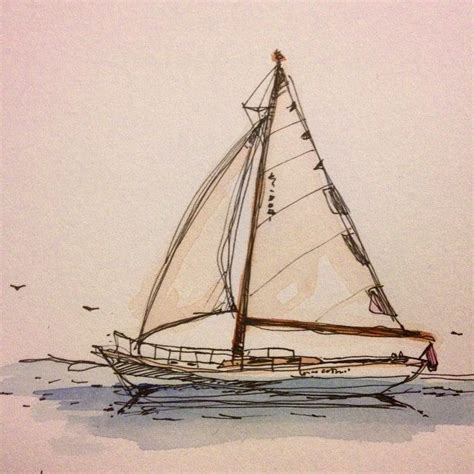 Boat Drawing Tattoo by Best 25 Sailboat Drawing Ideas On Pinterest Simple Cute