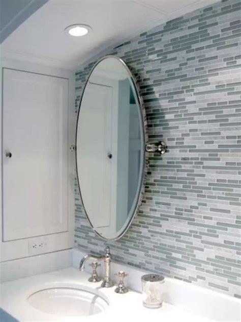Hang Bathroom Mirror by 1000 Ideas About Oval Bathroom Mirror On