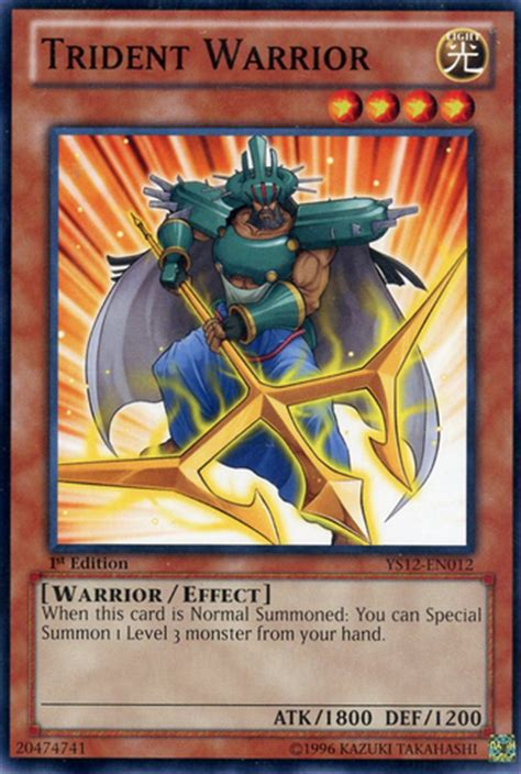 Types Of Warrior Decks Yugioh by Trident Warrior Yugioh Philosophy