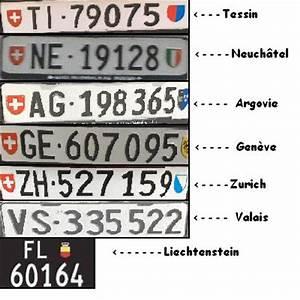 Plaque Immatriculation Etrangere : plaques d 39 immatriculation suisse et france ~ Medecine-chirurgie-esthetiques.com Avis de Voitures
