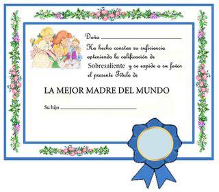 diplomas dia de la madre diplomas para imprimir d 237 a