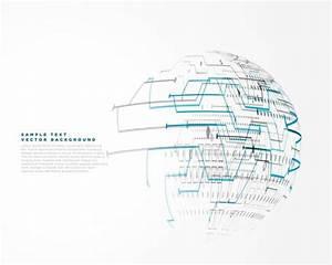 Fractal Analytics Futuristic Technology Wire Mesh Vector Background