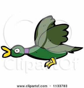 Flying Duck Clipart