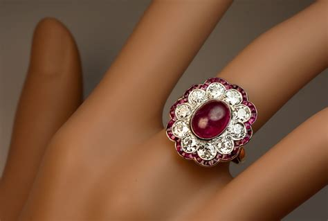 3 ct burma ruby edwardian engagement ring jewelry vintage rings