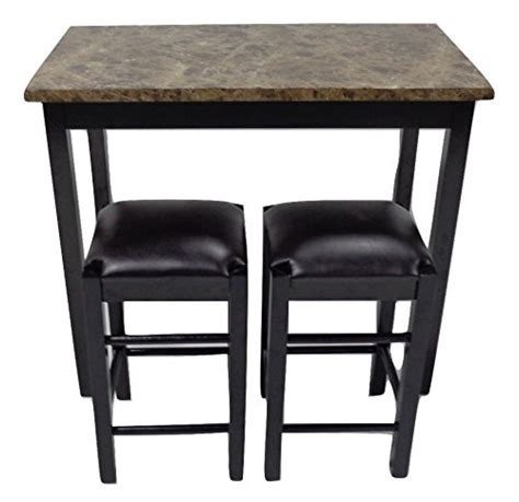marble top kitchen table counter height 3pc tavern counter height table stools faux marble top