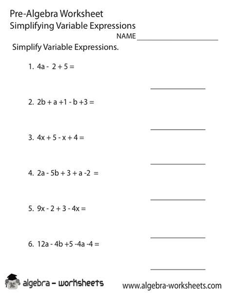 8th grade math worksheets algebra google search