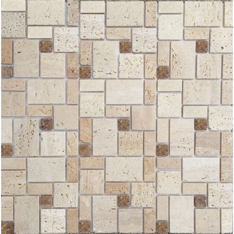 mosaic wall tile instant mosaic peel and stick 12 in x 12 in
